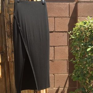 WHBM Black Maxi Skirt
